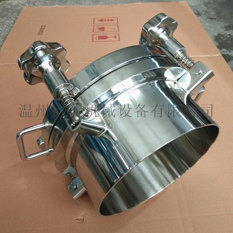 不锈钢食品卫生级圆形手孔 快开常压手孔 储料罐配件157982055