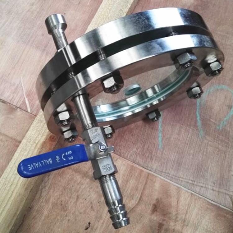 带冲洗法兰视镜、不锈钢对夹法兰视镜、不锈钢法兰视镜158086725