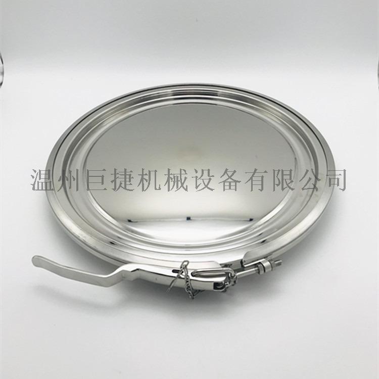 食品级不锈钢卡箍式粉体人孔订做_粉体人孔158303265