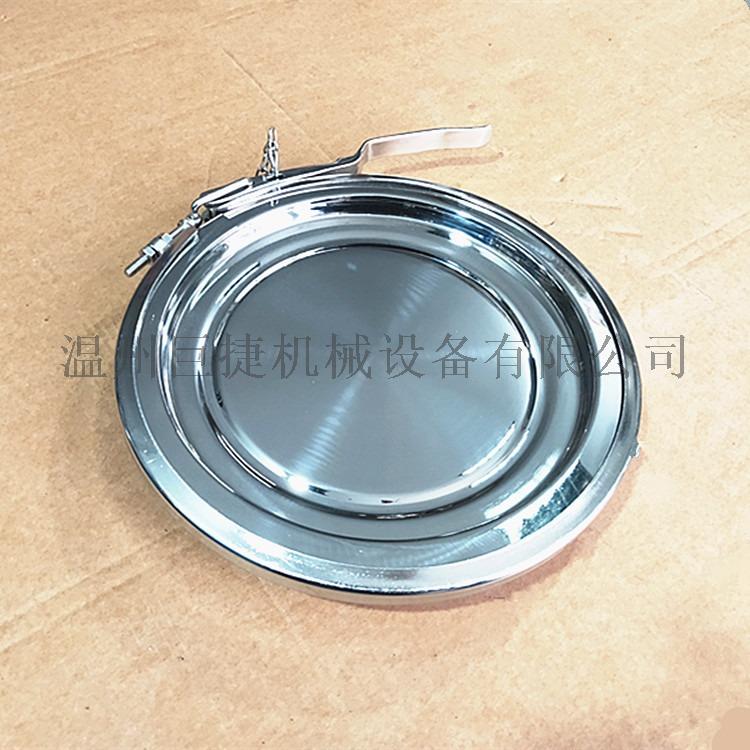 卡箍式快开手孔盖 卫生级快开手孔盖(卡箍式手孔)158302325