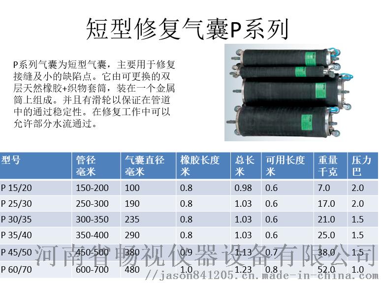 短型修复气囊P系列及参数.png