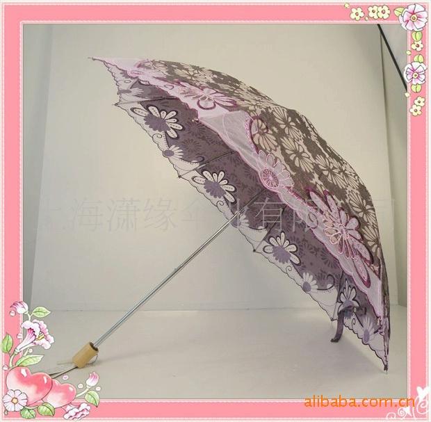 两折虎骨女式伞3