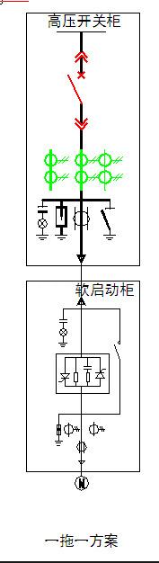 高压固态软启动柜一次原理图