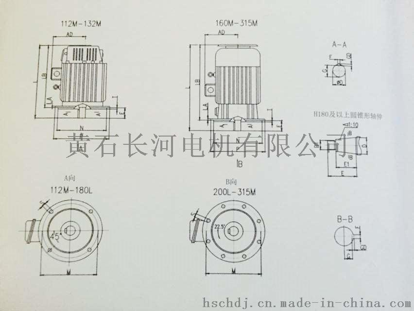 YZR112-315 立式尺寸