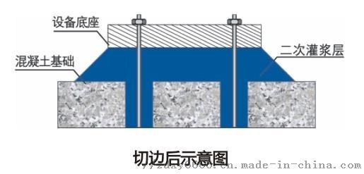 CGM+高强无收缩灌浆料+设备基础灌浆后切角示意图.jpg