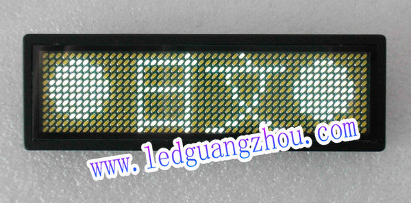 led工号牌软件_B1248-W白色4字多语言胸卡, LED胸牌/LED名片屏/LED工号牌/电子胸牌 ...