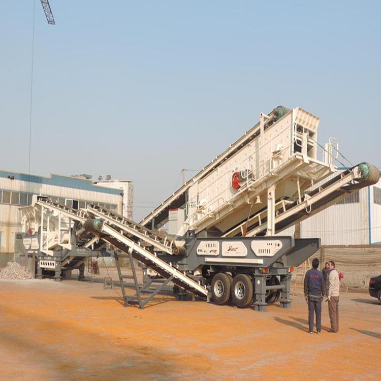 车载移动式破碎站用户生产现场-移动式破碎站厂家785924962