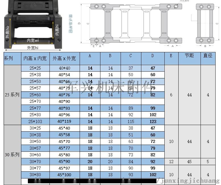 尼龍拖鏈生產廠家價塑料拖鏈工程拖鏈70291882