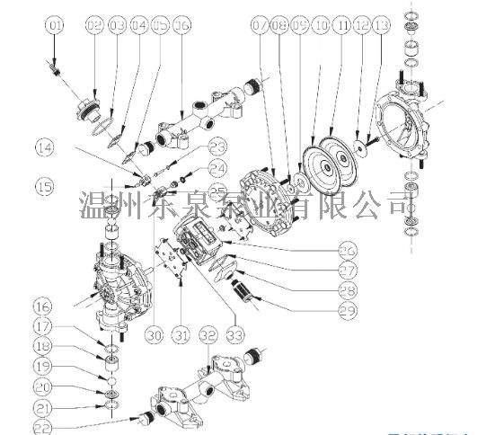污水处理用工程塑料气动隔膜泵四氟膜片82427215