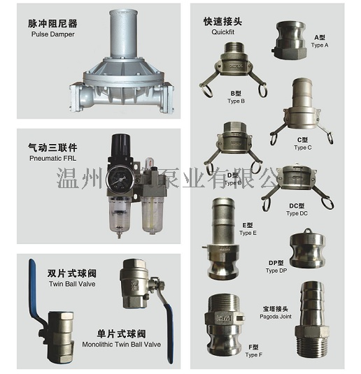 污水处理用工程塑料气动隔膜泵四氟膜片82427275