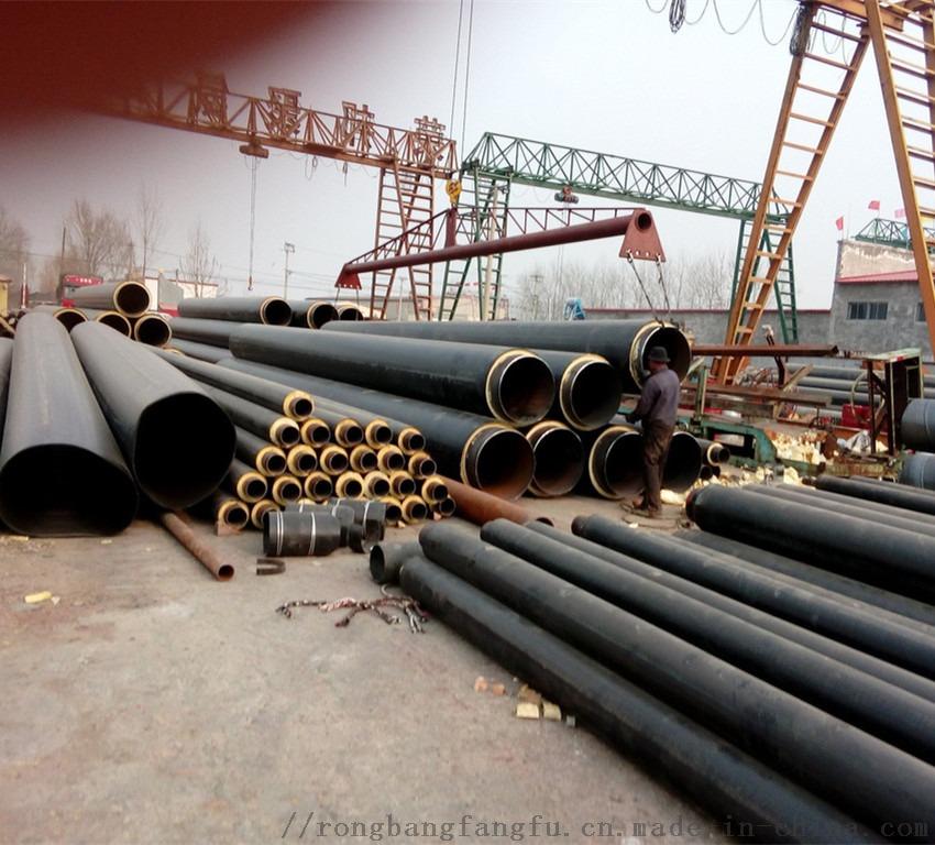 聚氨酯预制保温管,预制聚氨酯供暖直埋保温管厂家86040292