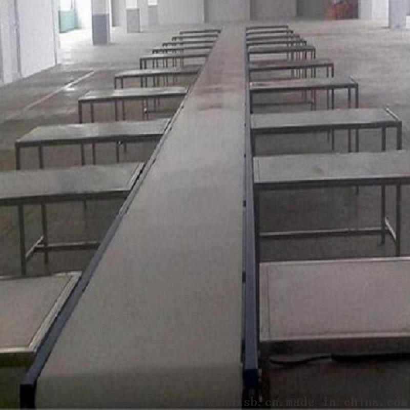 定制食品厂白色皮带输送线、小型平面流水线、按需定制800036192