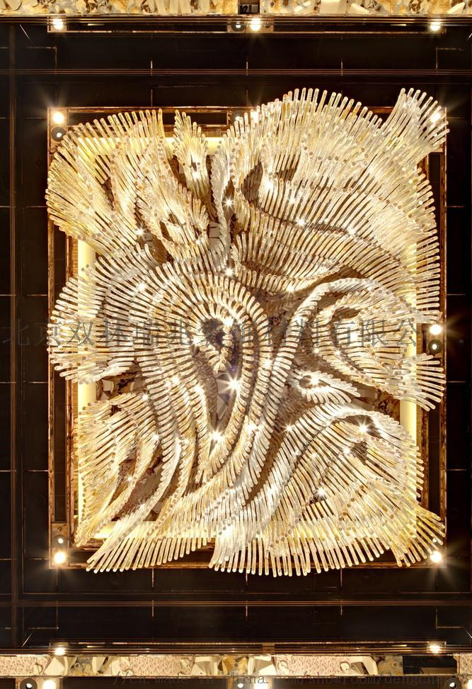 別墅酒店中空大吊燈大堂奢華水晶燈製作806697822