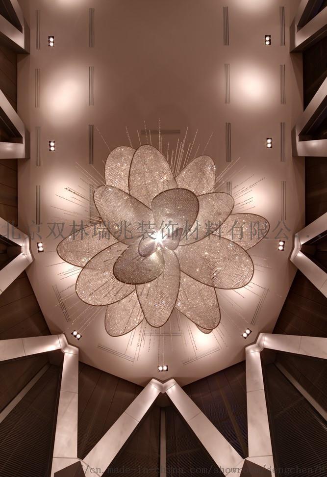 別墅酒店中空大吊燈大堂奢華水晶燈製作806697802
