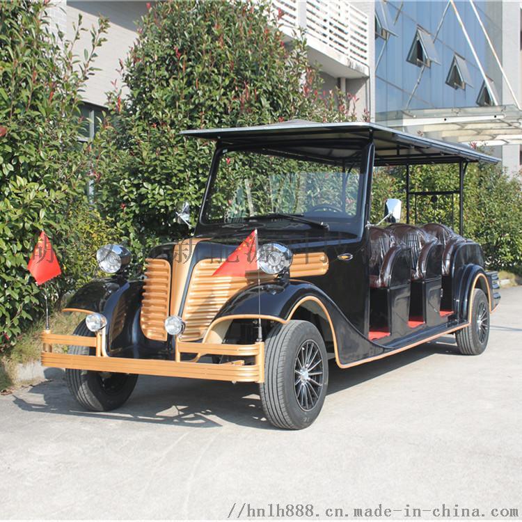12座豪華復古電動觀光車 貴賓接待車 爵士黑810158392
