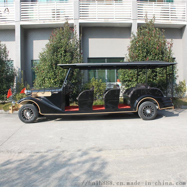 12座豪華復古電動觀光車 貴賓接待車 爵士黑810158422