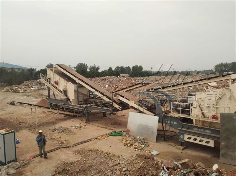 建筑垃圾移动破碎站 石料破碎处理生产线介绍67733132