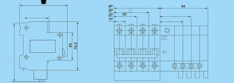 DZ47LE-63/3P+N 漏电断路器85304735