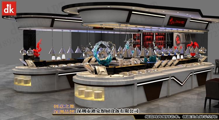 欧洲酒店自助餐厅改造 自助餐台设计制作 移动布菲台厂家深圳迪克 (5).jpg