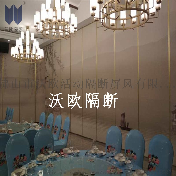Customized China landscape painting soundproof movable partition door.jpg