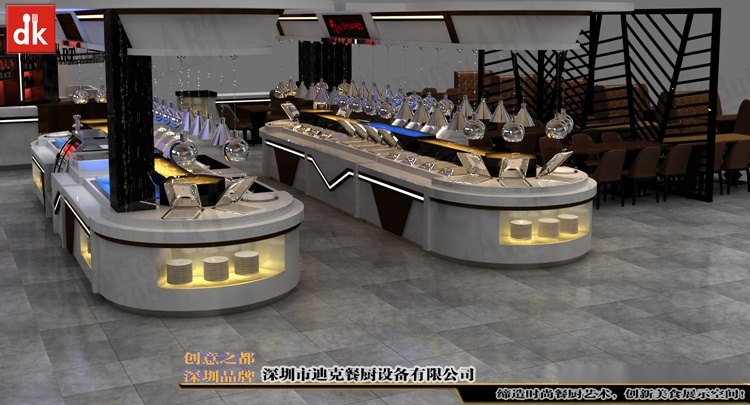 欧洲酒店自助餐厅改造 自助餐台设计制作 移动布菲台厂家深圳迪克 (3).jpg