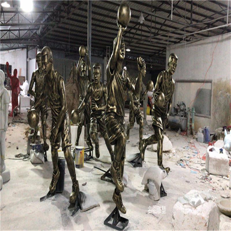 玻璃钢运动人物雕塑校园打篮球人物雕塑827519192