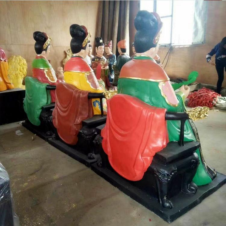女娲娘娘 三霄娘娘神像 三霄仙姑佛像神像1.6米 眼光娘娘佛像雕塑像