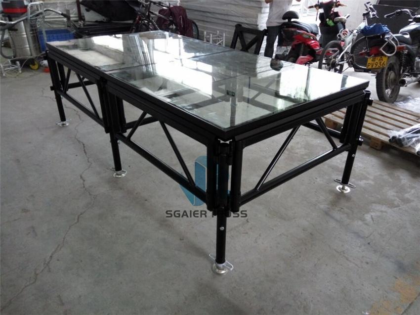 黑色玻璃拼接舞台,升降舞台,拼装舞台,组合型舞台71465662