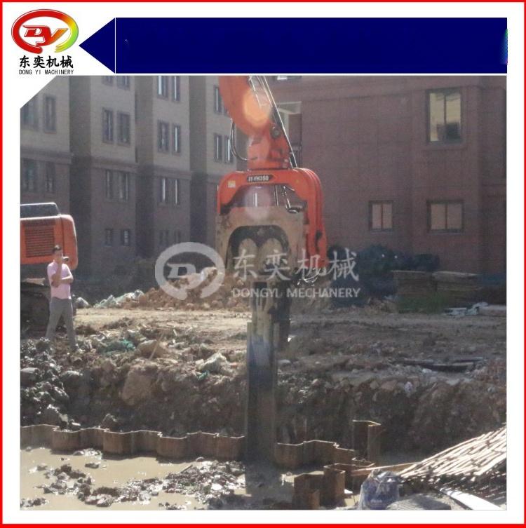 日立挖掘机改装打桩机 打拔桩机 打拔钢板桩机59800245