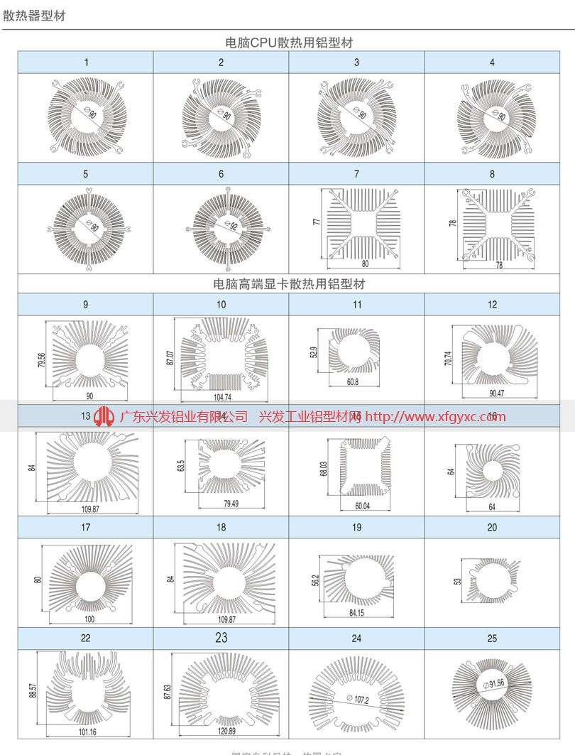 廣州鋁型材散熱器規格定製廠家822648025