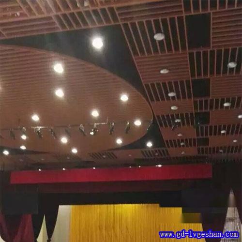 木纹铝方通吊顶 铝方通厂家 铝方通吊顶效果图