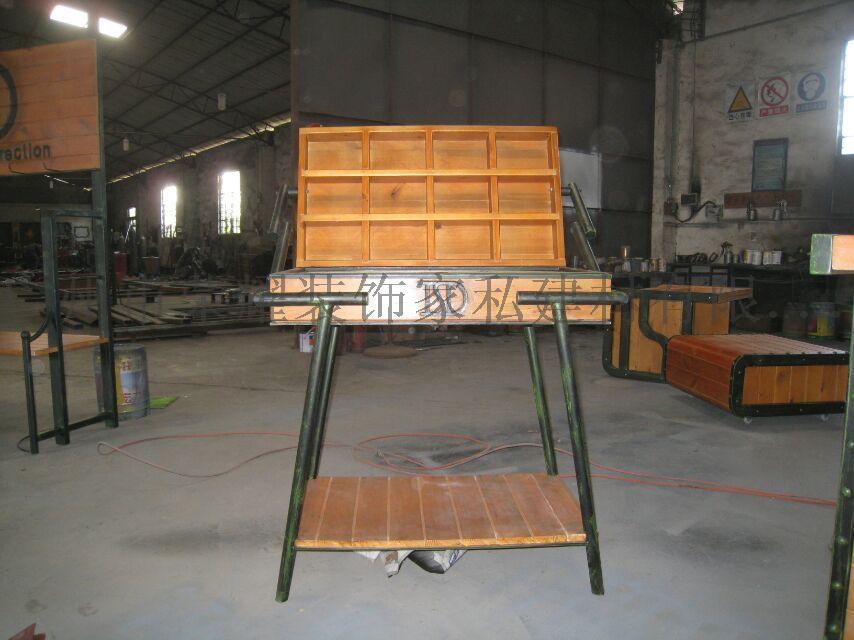 铁艺装饰货架 铁木结合767092325