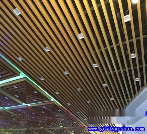 木纹铝方通天花 木纹铝方通吊顶厂家