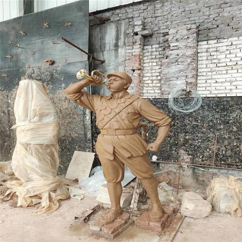 佛山爱国主题雕塑玻璃钢仿铜人物雕塑873961055