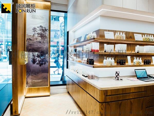 廣州融潤展櫃廠家製作鈦合金超市專櫃化妝品香水展櫃831417195