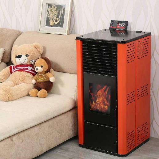 颗粒取暖炉厂家 可带暖气片新型智能采暖炉852277762