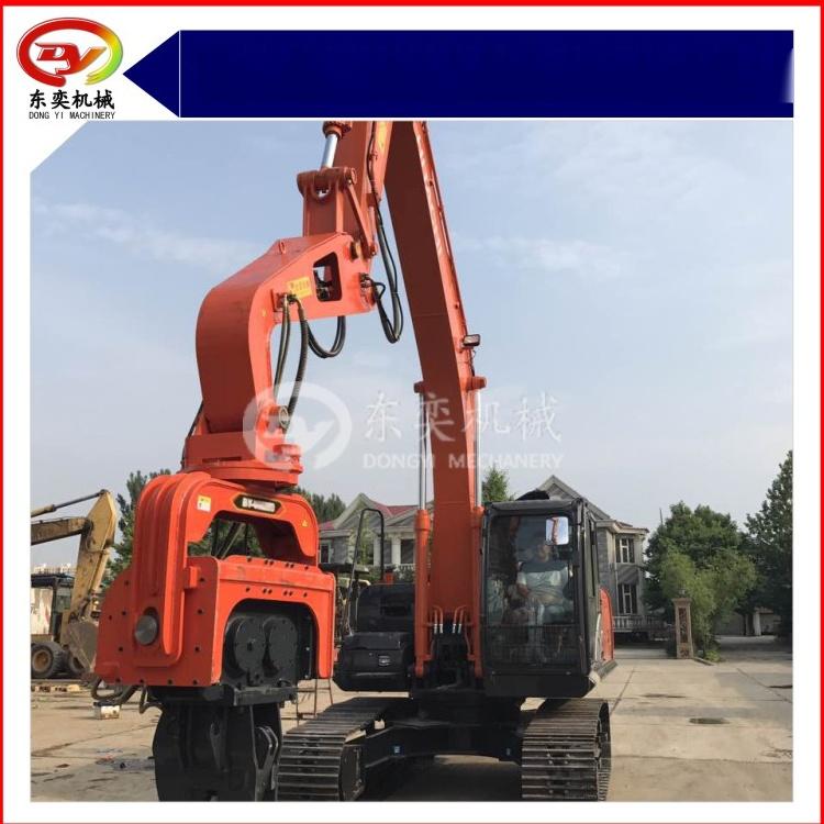 日立挖掘机改装打桩机 打拔桩机 打拔钢板桩机768988345