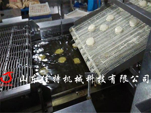 江苏油条油炸流水线 电加热油炸流水线45810002