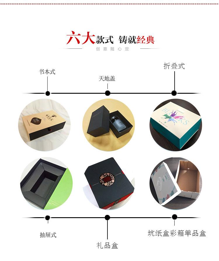 厂家定制创意精品折叠盒 小礼品皮具茶叶精美包装盒107199045