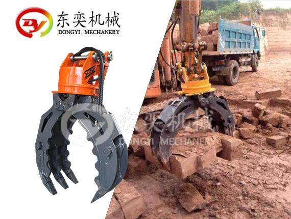 挖掘机抓木器 360度抓木机 旋转抓木 东奕机械厂765915525