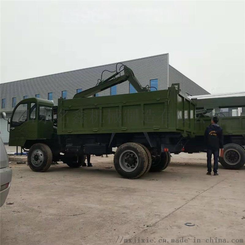 龙门吊挖掘装载一体机 多功能四驱下葬挖吊机831441632