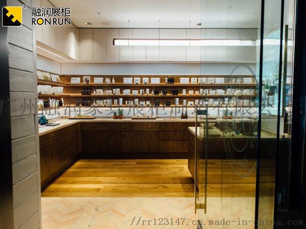 廣州融潤展櫃廠家製作鈦合金超市專櫃化妝品香水展櫃831417205