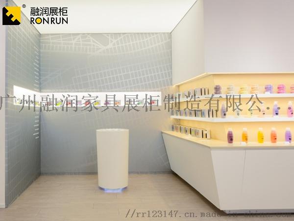 廣州融潤展櫃廠家製作鈦合金超市專櫃化妝品香水展櫃831417165