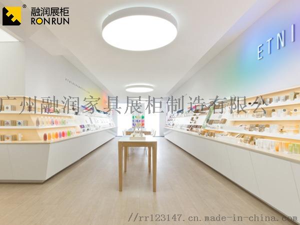 廣州融潤展櫃廠家製作鈦合金超市專櫃化妝品香水展櫃831417185