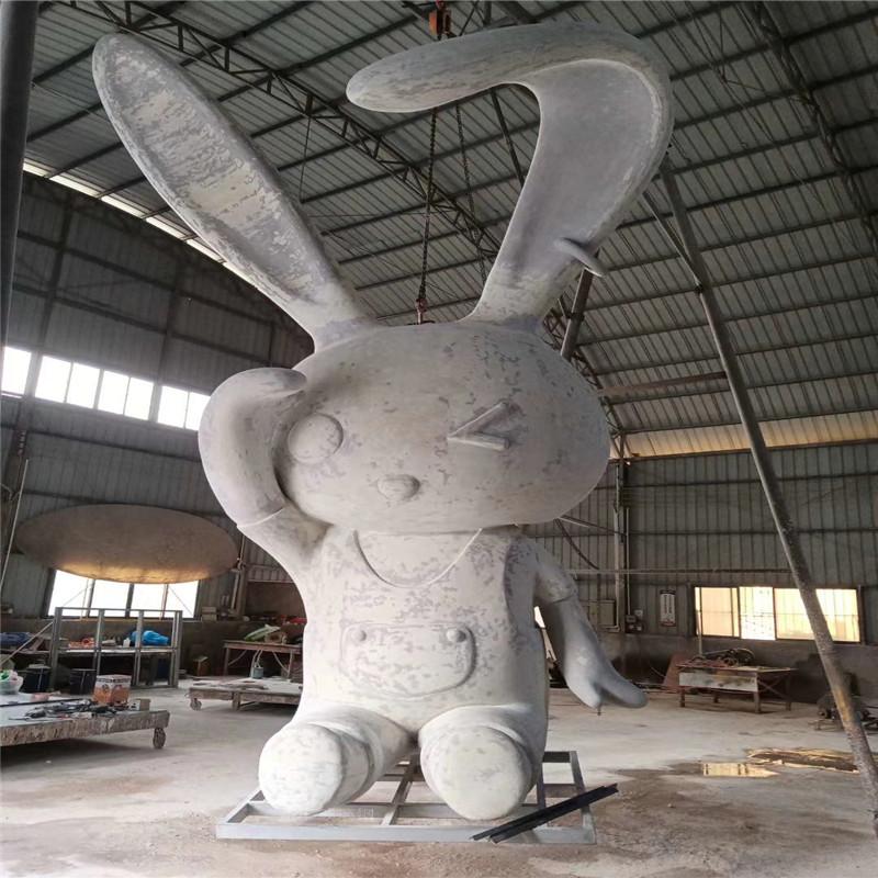 玻璃钢白兔雕塑 楼盘小区景观卡通雕塑造型952997545