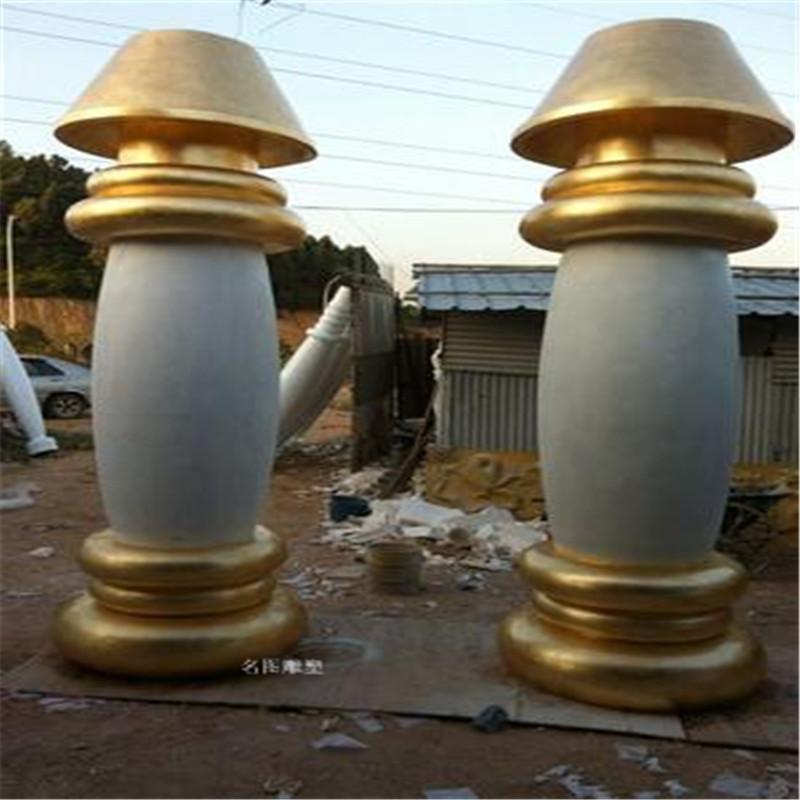 佛山玻璃钢龙柱雕塑造型 房地产玻璃钢罗马柱造型装饰893109235