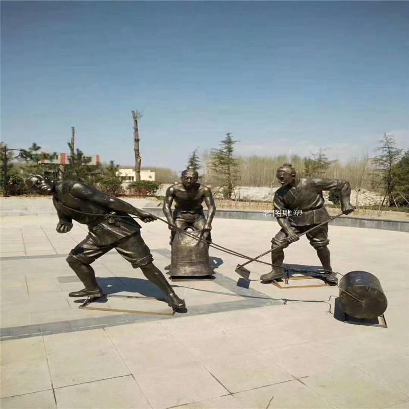 贵州玻璃钢人物雕塑 农耕文化雕塑119680862
