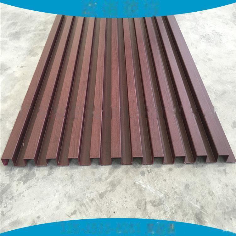 广告门头装饰凹凸型铝板定制  仿木纹长城铝板101547235