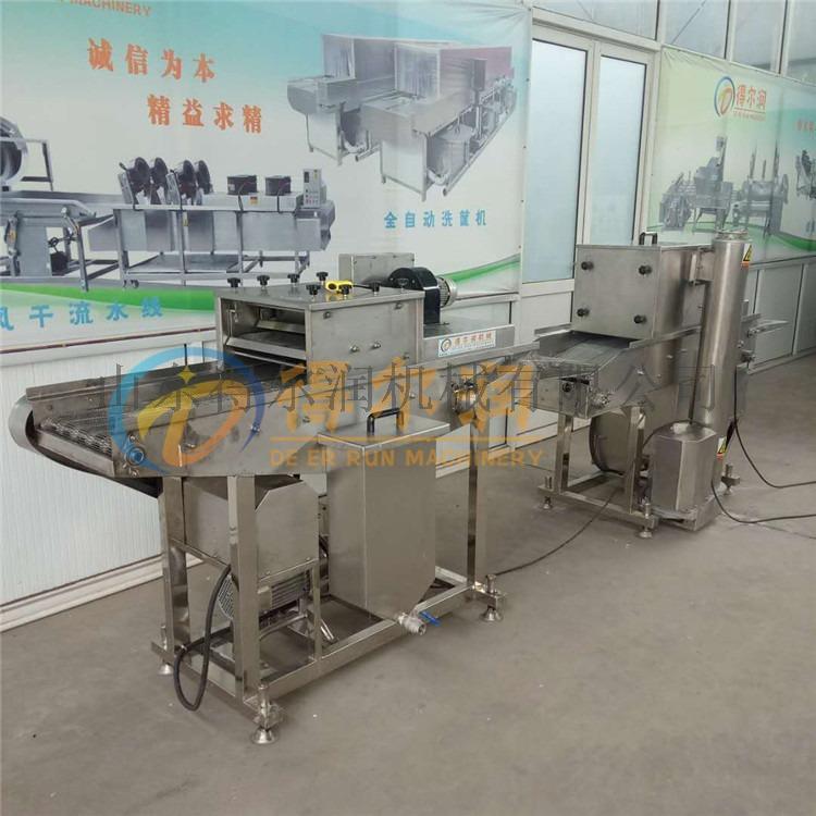 连州D&全自动裹浆上面包糠机器 智能鱼排上浆裹糠机57112452
