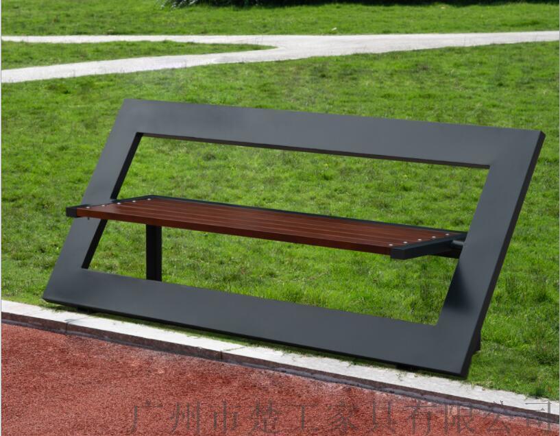 钢木园林景观座椅,室外木制创意休闲坐凳122969255